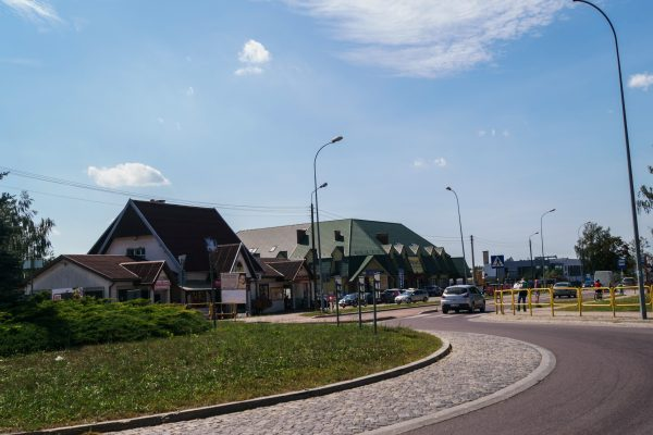 Grabówka - the roundabout where residents planned to celebrate the separation of the village of Grabówka from bigger municipality of Supraśl