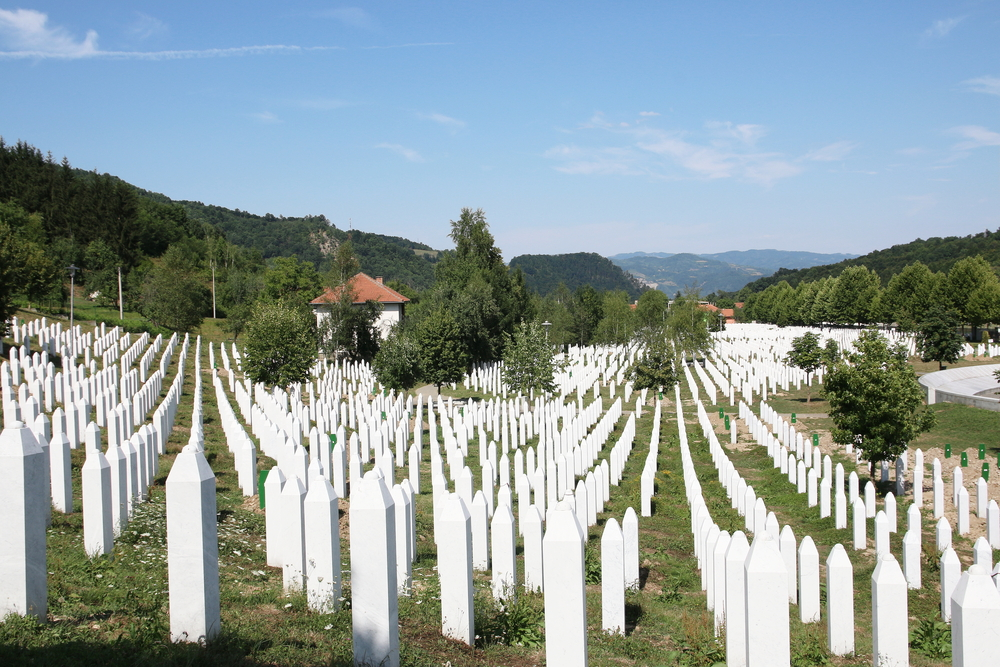 The Srebrenica-Potocari memorial and cemetery for the victims of the 1995 genocide. Source: Shutterstock