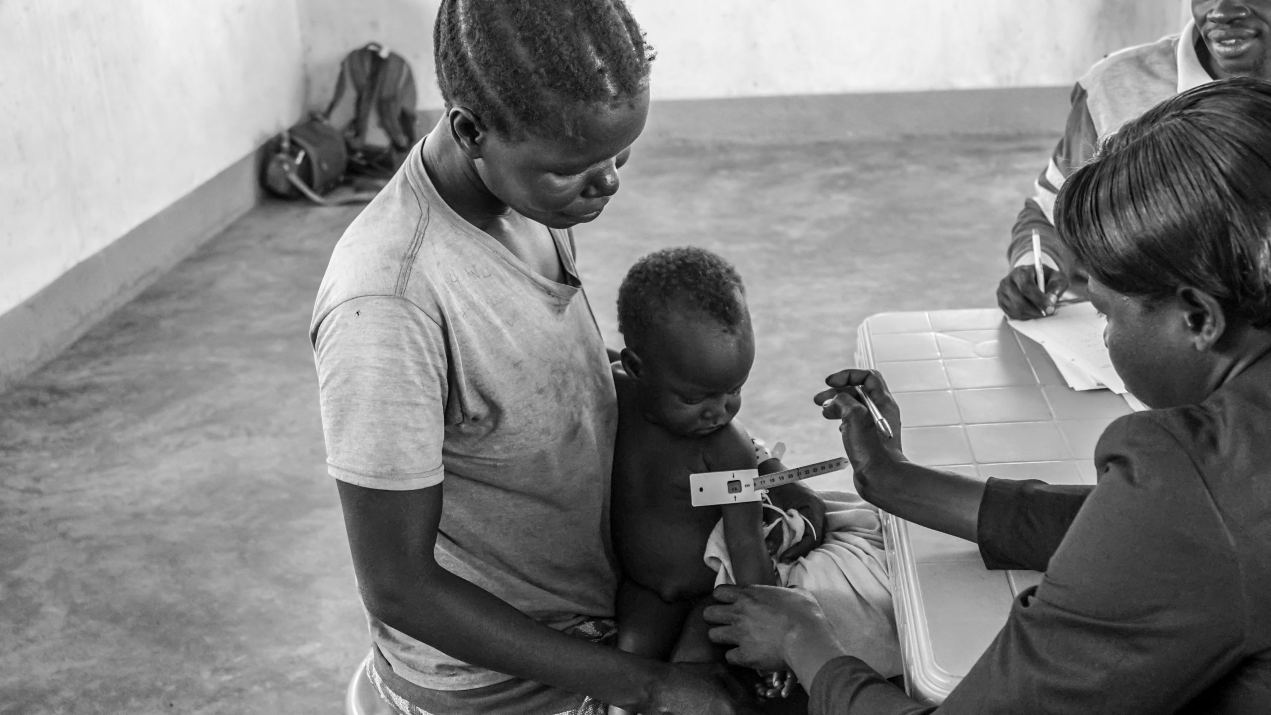 Imvepi Refugee Camp in Uganda. Medical check on the South Sudanese refugees.