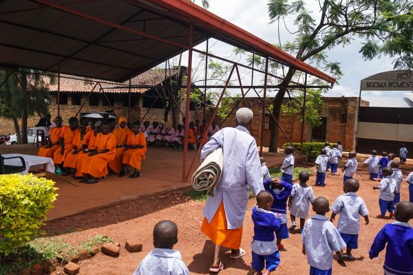 Rwanda: Ngoma prison where female genocidares are serving their sentences for their involvement in mass killings. There are no separate rehabilitation programmes for female genocidaires and many struggle with reconciling what they have done with traditional perceptions of a woman's role.