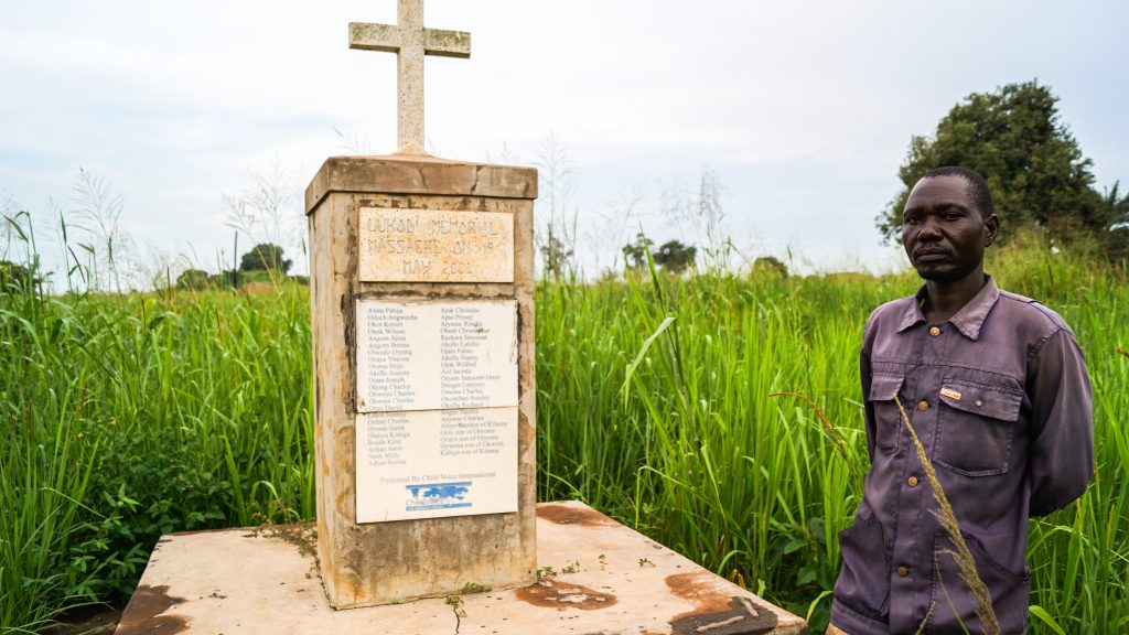 Lukodi, Uganda: Kennedy Caymoi who lost many relatives during an LRA attack says Ugandans need reconciliation in order to close the painful chapter and move on