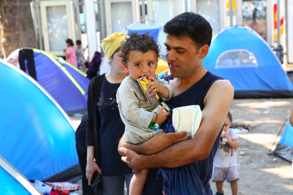 Belgrade 2015, Syrian refugees. Source: Shutterstock