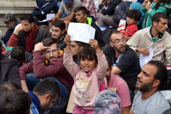 September 2015: War refugees at the Keleti Railway Station on 5 September 2015 in Budapest, Hungary. Source: Shutterstock